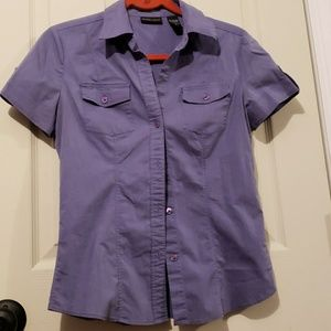 EUC New York & Company button down shirt